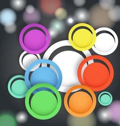 Abstrcat circles vector image