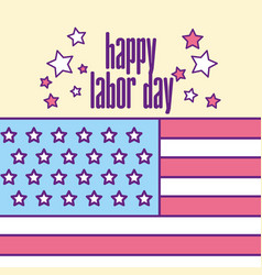 american labor day vector image