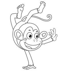 Animal outline for monkey vector