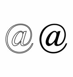 arroba symbols vector image