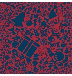 background of the Christmas icons vector image