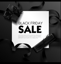 Black friday sale poster with text sample and vector