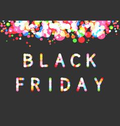 black friday sparkling light sale promo banner vector image