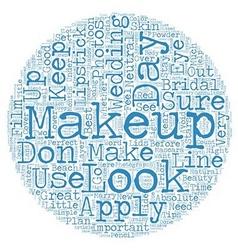 Bridal Makeup text background wordcloud concept vector image