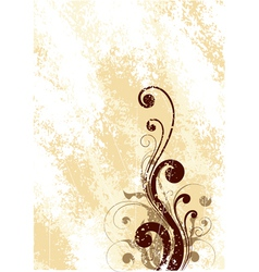 brown floral art vector image