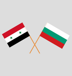 Bulgaria and syria flags vector