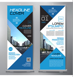 business roll up standee design banner template vector image