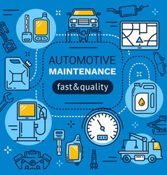Car service repair and maintenance vector