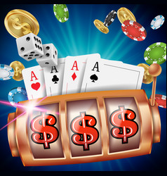casino slot machine banner spin wheel vector image