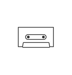 cassette music line icon simple modern flat for vector image