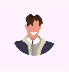 Casual man face avatar business man smiling male vector