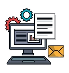 computer email file work siolated vector image