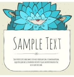 Cute doodle cartoon monster greeteng or invitation vector