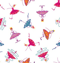 Dancing girls seamless pattern vector