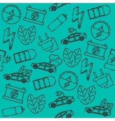 Electric car pattern vector