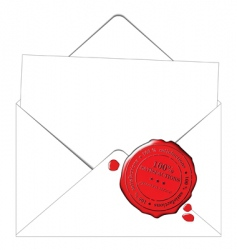 envelope and paper vector image