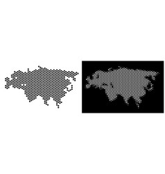 Eurasia map hex-tile scheme vector