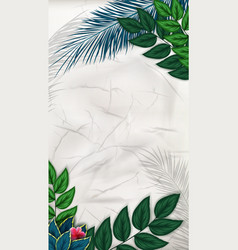 exotic pattern with tropical leaves background vector image