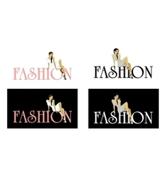 Fashion female logo vector image