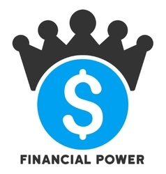 Financial Power Icon With Caption vector image