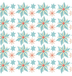 Flower flora decoration seamless pattern vector