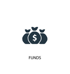 Funds icon simple element funds vector