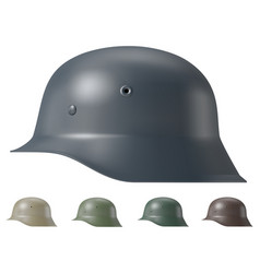German ww2 military helmet vector