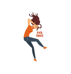 Girl dancing drum and bass dance vector