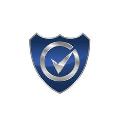 global security logo design template vector image