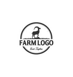 goat logo designs inspirations vector image