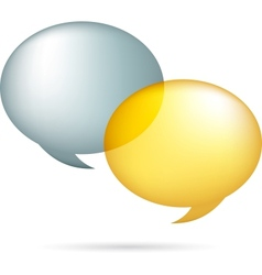 Gold and silver speech bubbles vector