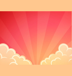 graceful beautiful red sunset background vector image