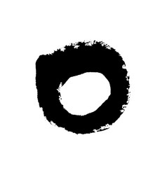 Grudge brush stroke circle isolated on white vector