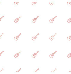 Guitar icon pattern seamless white background vector