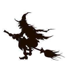 halloween silhouette vector image