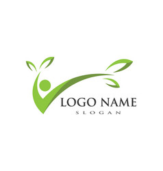Healthy life people logo template vector