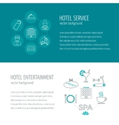 Horizontal banners of hotel service and vector image
