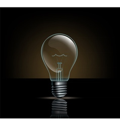 Incandescent lamp on a dark background vector