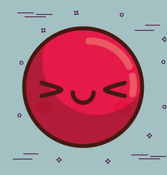 Kawaii face icon vector