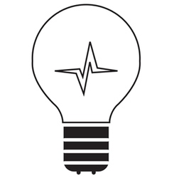 Lightbulb Icon Outline vector image