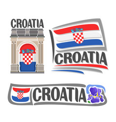 Logo for croatia vector