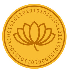 Lotus digital coin vector