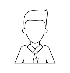 Man employee work business thin line vector