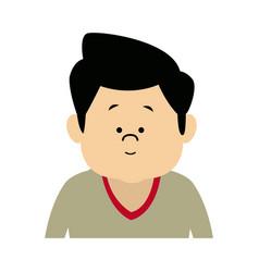 Man male cartoon portrait senior person character vector
