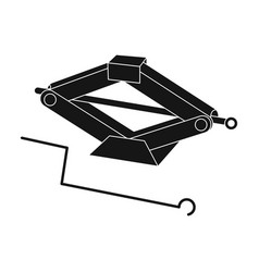 mechanical jackcar single icon in black style vector image