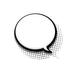 modern halftone bubble speech icon on white vector image