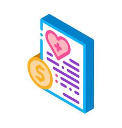 Paid services price isometric icon vector