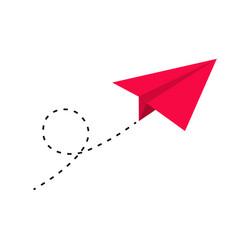 Paper plane icon set origami vector