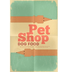 Pet shop poster tax vector