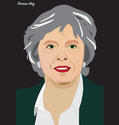 Prime minister theresa may vector